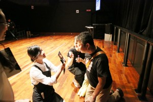 ビューティ科は出演者の「トヨタマヒメ」「ガリベーン」のメイクをお手伝いしました。