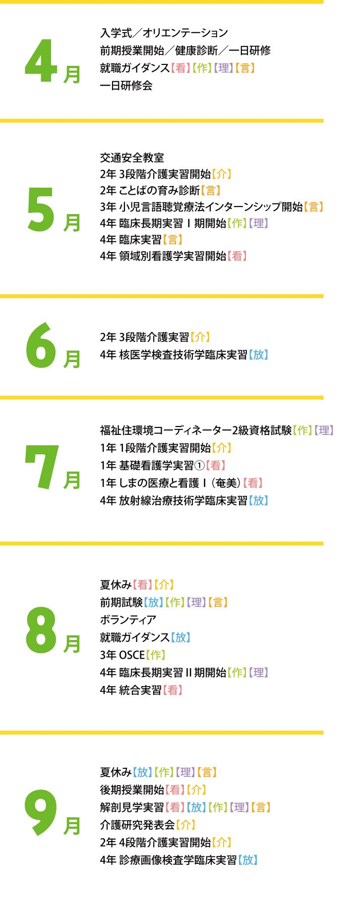 イベント4月~9月