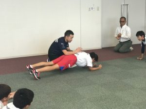 体幹トレーニング受講(南日本新聞オセモコ)