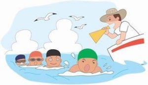 遠泳実施いたします。