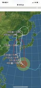 台風10号の接近に伴い。